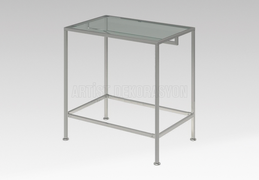 Glass Metal Middle Stand