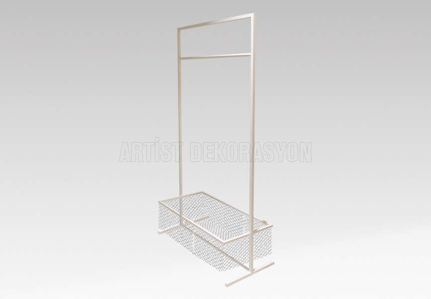 Metal Stand with basket